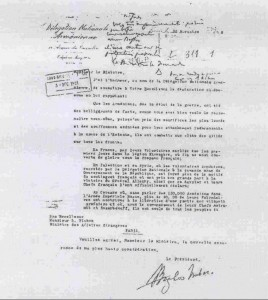 Reproduction of the Letter of Boghos Nubar, Head of Armenian Delegation to the Paris Peace Conference (1919), addressed to the French Foreign Minister